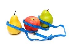 Fruit dieting concept. Pears and apple illustrating fruit dieting concept Stock Photos