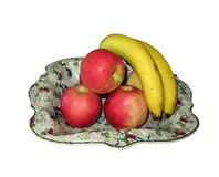 Fruit in dish Stock Images