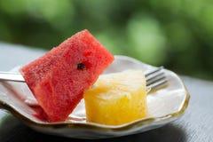 Fruit on dish Royalty Free Stock Image