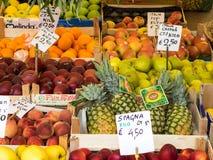 Fruit display at market Stock Image