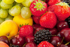 Fruit diversity Stock Images
