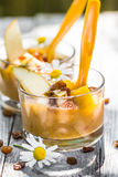 Fruit dizzy delicious pear mousse raisins Stock Photography