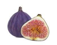 Fruit doux mûr de figue d'isolement sur le blanc Photographie stock