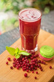 Fruit drink with cranberries Stock Photography