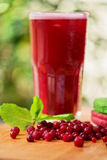 Fruit drink with cranberries Stock Images