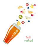 Fruit drink in glasses Royalty Free Stock Photo