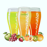 Fruit drink in glasses Royalty Free Stock Photography