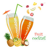 Fruit drink in glasses Stock Photo