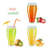 Fruit drink in glasses Stock Image