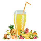 Fruit drink in glasses Stock Images