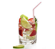 Fruit Drink With Ice Royalty Free Stock Image