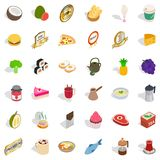 Fruit drink icons set, isometric style. Fruit drink icons set. Isometric style of 36 fruit drink vector icons for web isolated on white background Royalty Free Stock Image