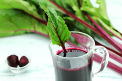 Fruit drink. Juice from fresh young beets royalty free stock photo
