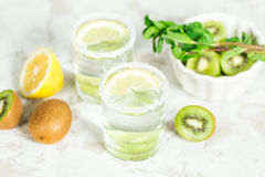 Fruit drink with kiwi and mint Royalty Free Stock Photography