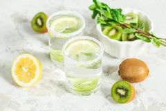 Fruit drink with kiwi and mint Stock Image