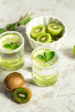 Fruit drink with kiwi and mint Royalty Free Stock Images
