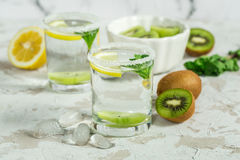 Fruit drink with kiwi and mint Stock Photography