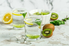 Fruit drink with kiwi and mint Royalty Free Stock Photo