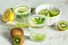 Fruit drink with kiwi and mint Royalty Free Stock Image