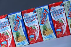 Free Fruit Drink Wicky From Netherlands, Dutch Brand Stock Images - 123531904
