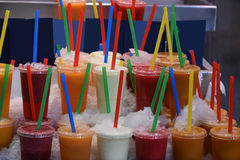 Fruit drinks Stock Photography