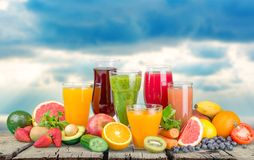 Fruit drinks Stock Images