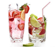 Fruit Drinks With Ice Stock Photography