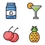 Fruit and Drinks Vector Pack vector illustration