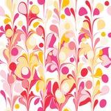 Mid-century modern organic seamless repeat pattern vector illustration