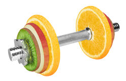 Fruit dumbbell Royalty Free Stock Image