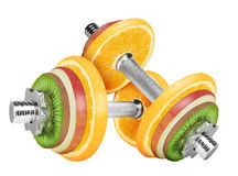 Fruit dumbbell Royalty Free Stock Photography