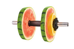 Fruit dumbbells Royalty Free Stock Photography