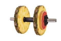 Fruit dumbbells Stock Images
