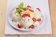 Fruit dumplings Royalty Free Stock Photography