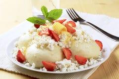 Fruit dumplings Stock Images