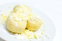 Fruit dumplings with cheese Stock Photography