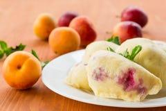 Fruit dumplings Royalty Free Stock Images