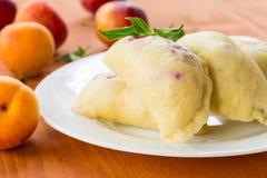 Fruit dumplings Stock Image