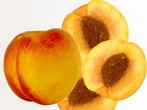 Fruit een perzik een abrikoos een hybride Stock Foto's