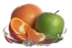 Fruit in een vaas Royalty-vrije Stock Foto's