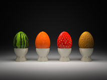Fruit eggs Royalty Free Stock Photos