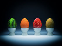 Fruit eggs Royalty Free Stock Images