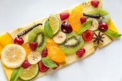 Fruit en bessencarpaccio Royalty-vrije Stock Foto