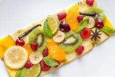 Fruit en bessencarpaccio Royalty-vrije Stock Foto's