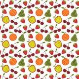 Fruit en bessenpatroon Royalty-vrije Stock Foto's