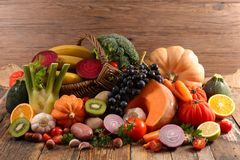 Fruit en Groente stock foto