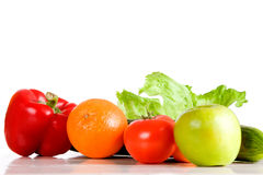 Fruit en groente Stock Afbeeldingen