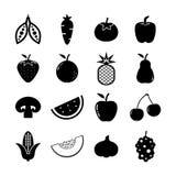 Fruit en Groentenpictogram royalty-vrije illustratie