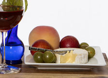 Fruit en kaas stock foto's