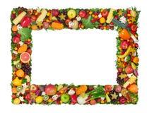 Fruit en plantaardig frame Royalty-vrije Stock Foto